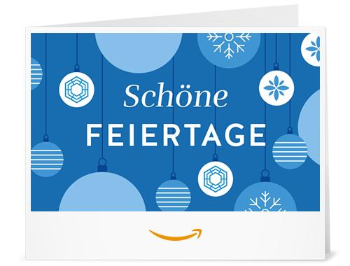 Amazon.de Gutschein zum Drucken (Schöne Feiertage (blau