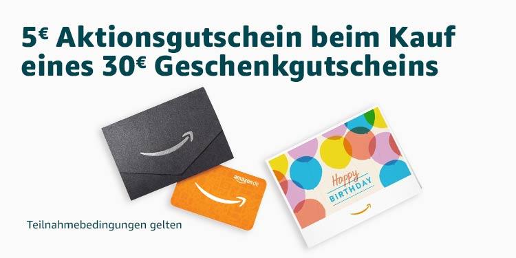 5€ Aktionsgutschein beim Kauf eines 30€ Geschenkgutscheins