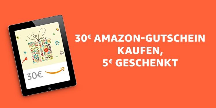 30€ Amazon-Gutschein kaufen, 5€ geschenkt