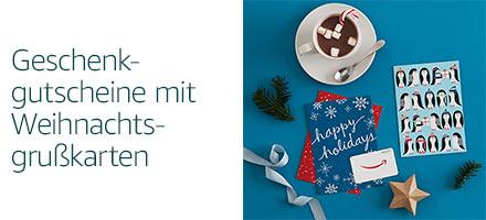 Winterliche Geschenkgutscheine mit Grußkarte