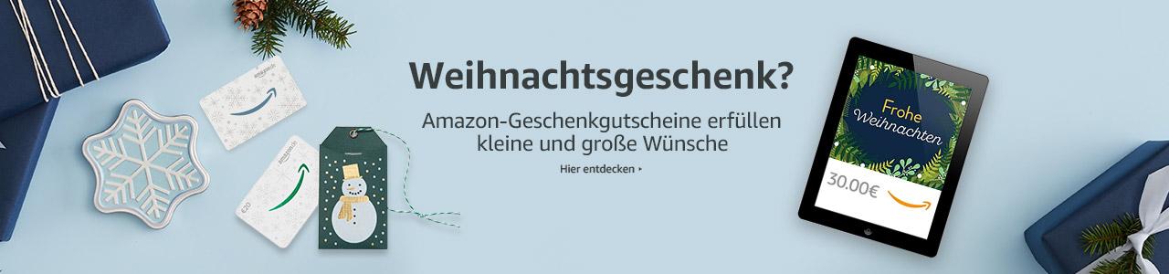 Amazon Geschenk-Gutscheine mit Weihnachtsdesign
