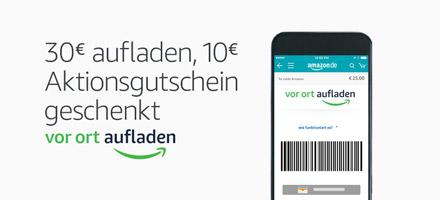 30€ vor Ort aufladen, 10€ Aktiongutschein geschenkt