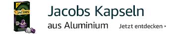 Jacobs Kapseln aus Aluminium