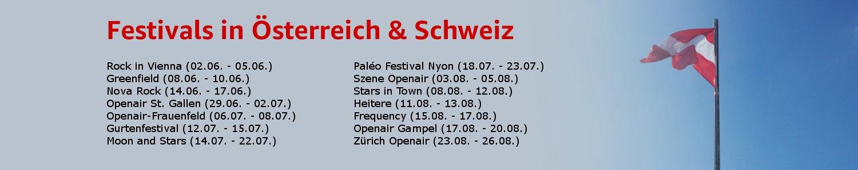 Festivals in Österreich & Schweiz
