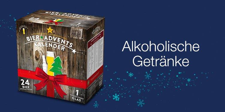 Adventskalender mit Bier, Wein & Spiritousen