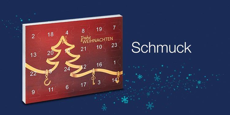 Adventskalender mit Schmuck