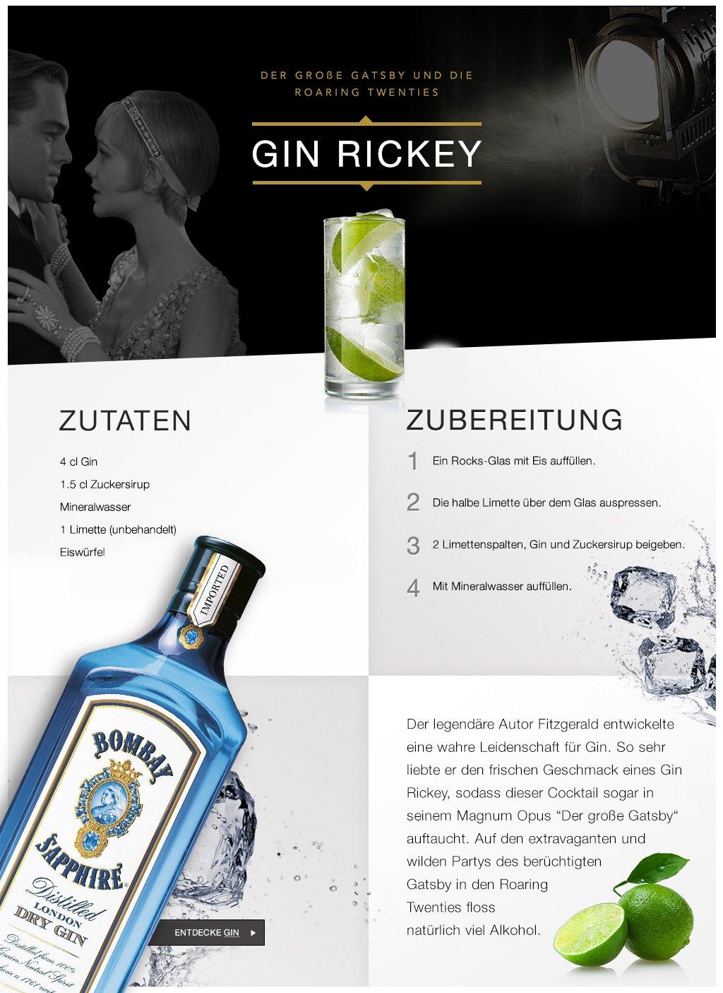 Amazon.de: Der große Gatsby: Gin Rickey: Lebensmittel & Getränke