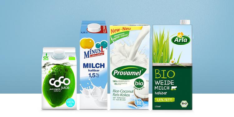 Milch, Milchersatz & Kokosnusswasser
