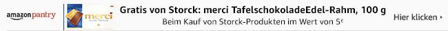 Eine Tafel Merci kostenlos beim Kauf von Storck Produkten im Wert von mind. 5 EUR