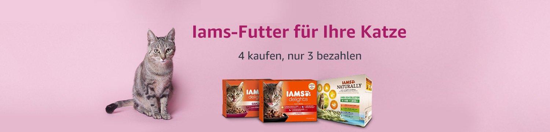 Beim Kauf von 4 Iams-Produkten, 1 gratis erhalten
