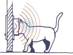SWING MICROCHIP Katzenklappe mit Microchip, Außen ca. 22,5 x 13,4 x 25,2 cm; Innen ca. 13,5 x 13,7 cm, weiß