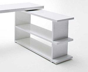 Robas lund 40227w4 schreibtisch michl kombination aus for Schreibtisch schwenkbare tischplatte