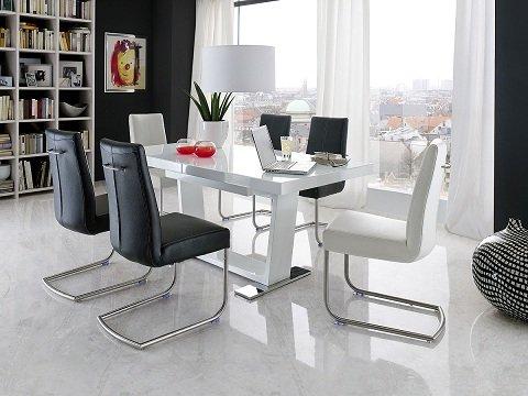 Esstisch ausziehbar weiß glas  Robas Lund Tisch Esstisch Manhattan ausziehbar Tischplatte Glas ...