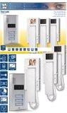 Elro VD63 3-Familien-Videotürsprechanlage mit 2.4 Zoll (5.5 cm) TFT Farbmonitoren