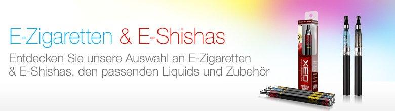 Auswahl an E-Zigaretten & E-Shishas