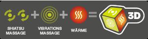 Shiatsu + Vibration + Wärme = Drei-dimensionale Massage