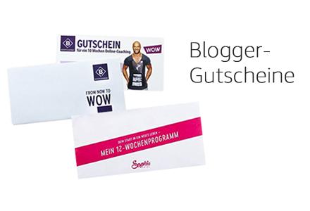 Blogger-Gutscheine
