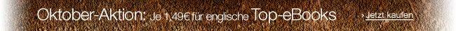 Oktober-Aktion: Englische eBooks für je 1,49 EUR