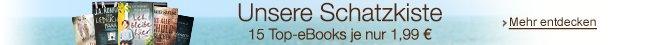 Unsere Schatzkiste: 15 Top-eBooks für je 1,99 EUR