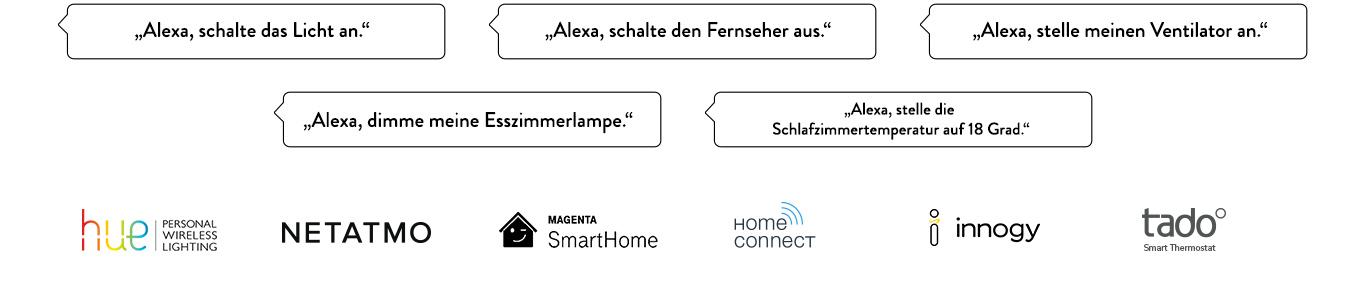 WeMo | Philips Hue | Netatmo | Home Connect | Innogy | Tado