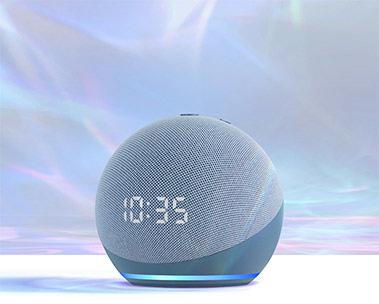 Der neue Echo Dot mit Uhr