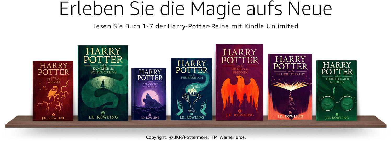 Lesen Sie Buch 1-7 der Harry-Potter-Reihe mit Kindle Unlimited