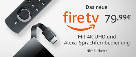 Das neue Fire TV mit 4K Ultra HD and Alexa-Sprachfernbedienung