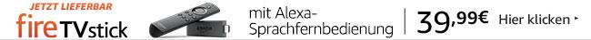 Jetzt lieferbar Fire TV Stick mit Alexa-Sprachfernbedienung