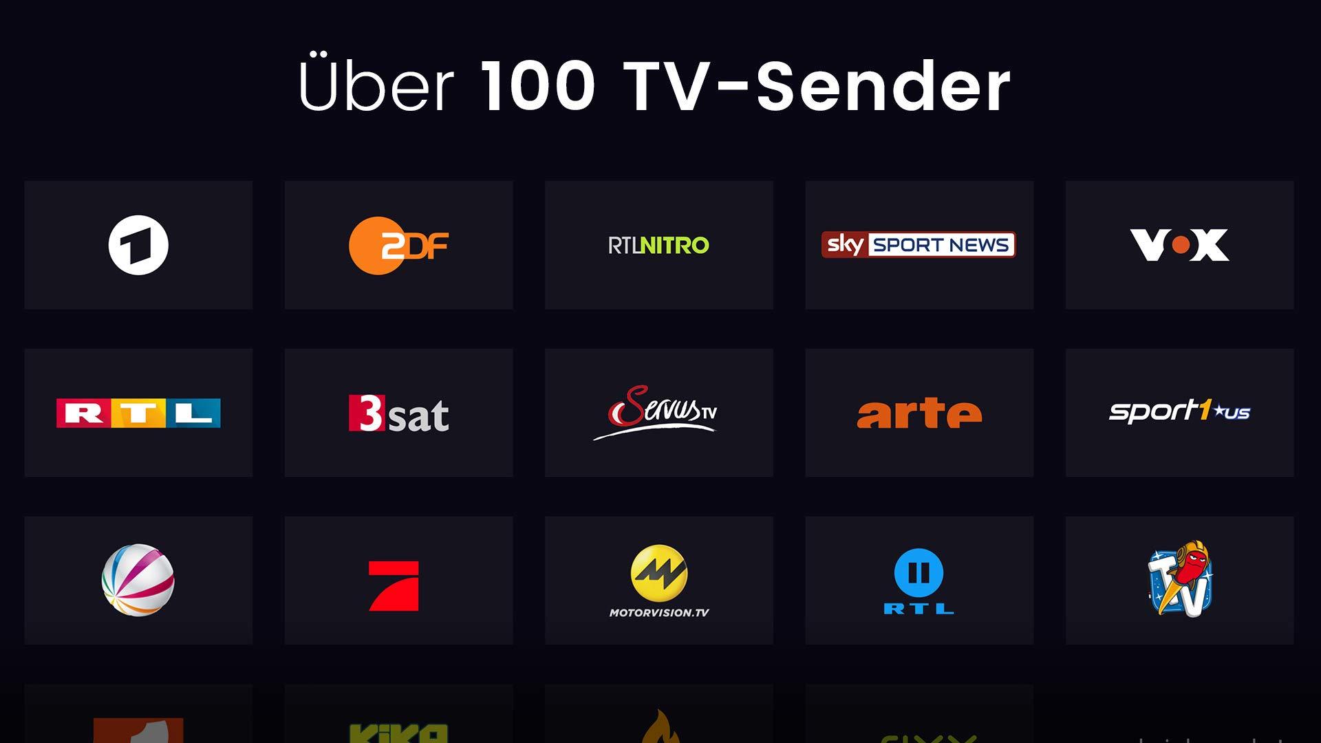 Über 100 TV-Sender