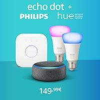 Echo Dot + Philips Hue Color Kit