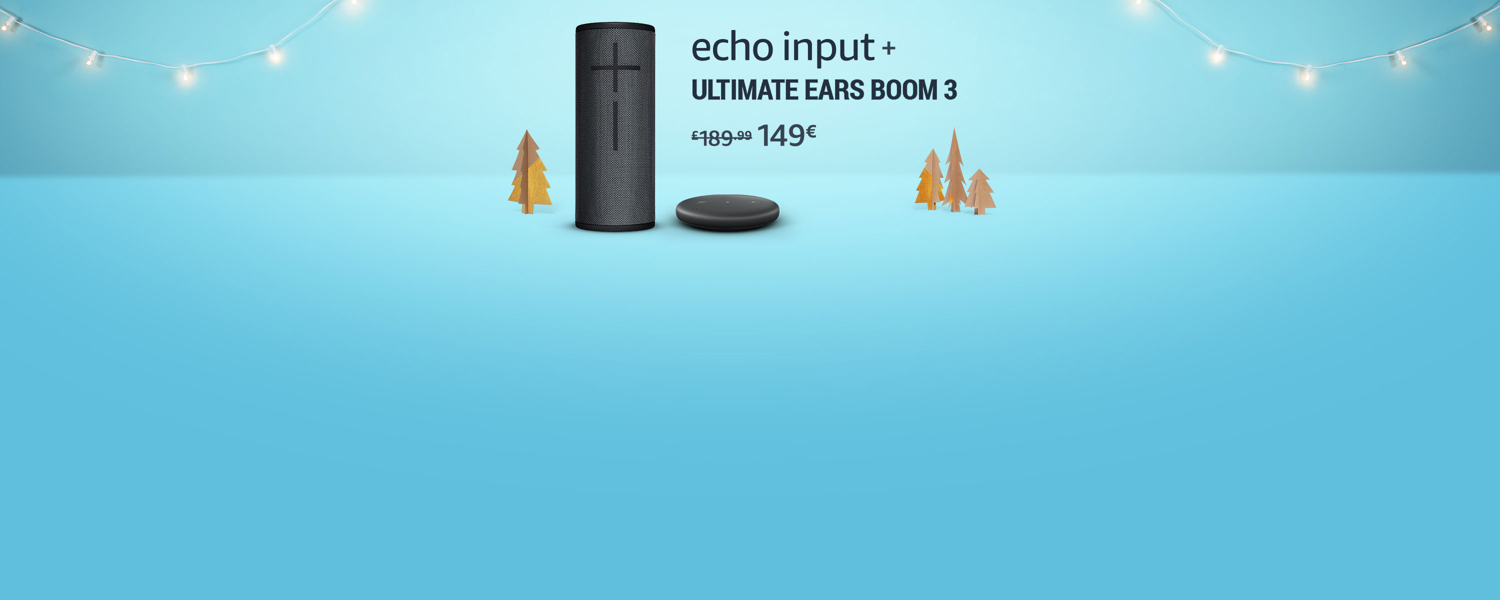 Echo Input + Ultimate Ears Boom 3