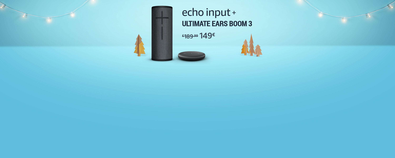 Echo Input + Ultimate Ears Boom 3