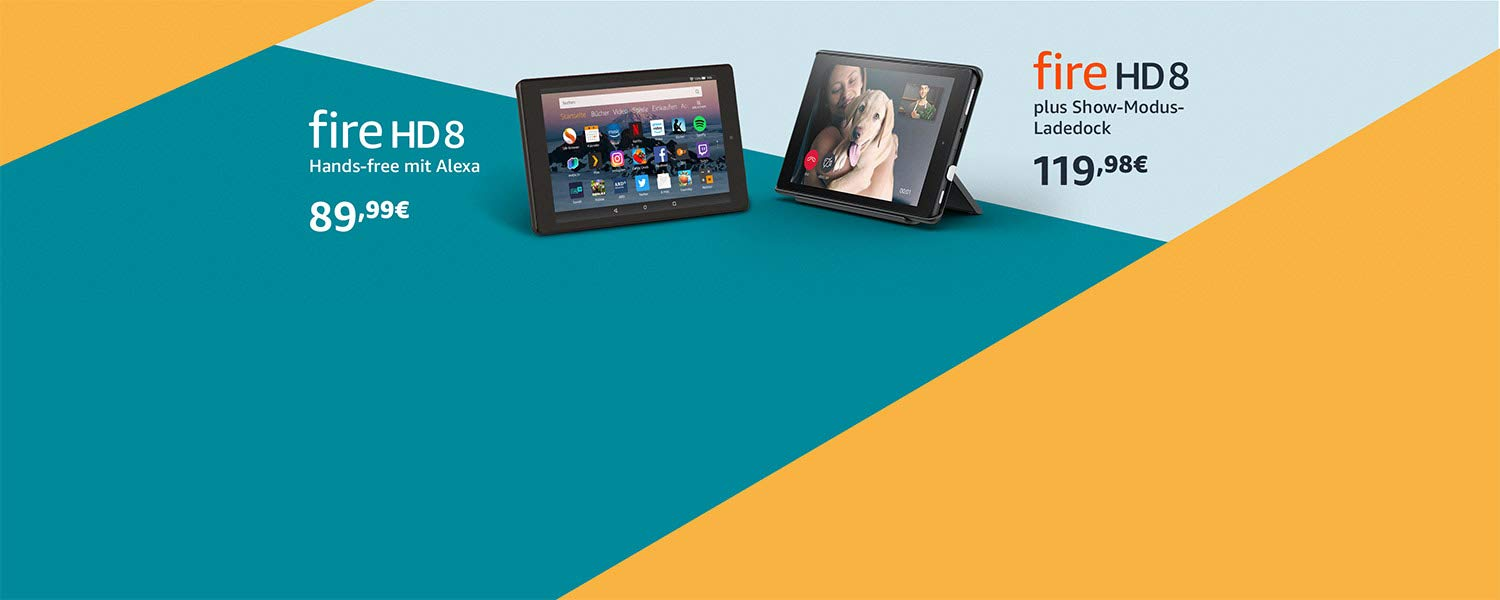 Fire HD 8, Show-Modus-Ladedock