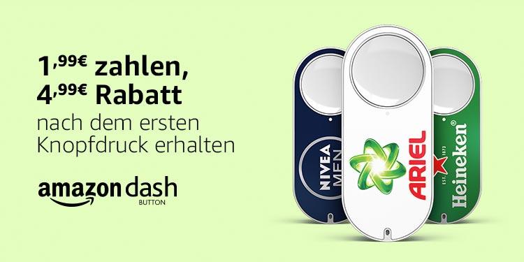 Amazon Dash - 4,99 EUR Rabatt beim ersten Knopfdruck