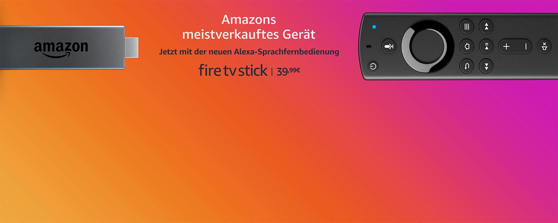 Fire TV Stick mit der neuen Alexa-Sprachfernbedienung
