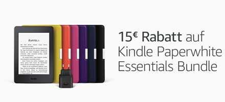 Kindle Paperwhite Essentials Bundle - 10€ Rabatt