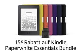 Kindle Paperwhite Essentials Bundle - 15€ Rabatt