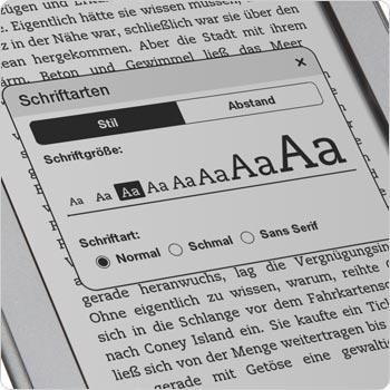 Acht verschiedene Schriftgrößen und drei Schriftarten