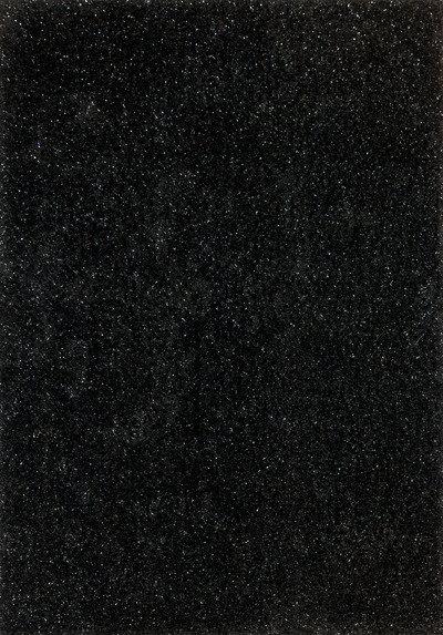 lalee 347149667 designer hochflor shaggy teppich handarbeit weicher langflor glitzer uni schwarz. Black Bedroom Furniture Sets. Home Design Ideas