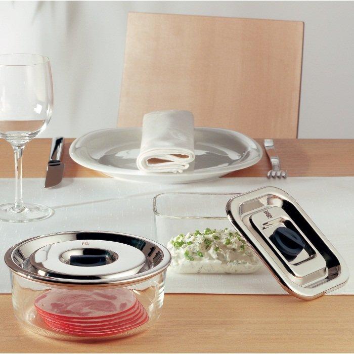 wmf vorratsdosen set top serve rechteckig aus glas mit. Black Bedroom Furniture Sets. Home Design Ideas