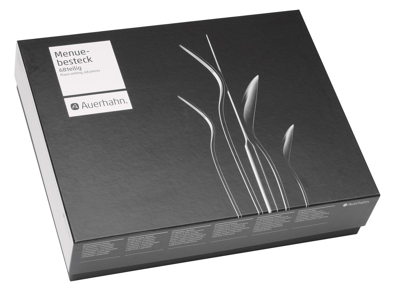 auerhahn 22 9302 0368 conturo matt 68 teilig besteckgarnitur k che haushalt. Black Bedroom Furniture Sets. Home Design Ideas