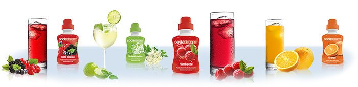 SodaStream: große Geschmacksvielfalt
