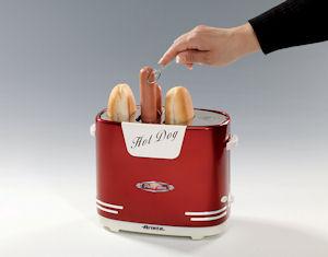ariete 186 hot dog maker im 50 er jahre retrodesign 650 w. Black Bedroom Furniture Sets. Home Design Ideas
