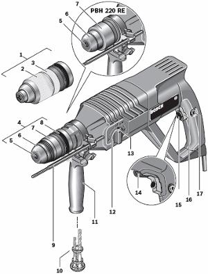 bosch bohrhammer pbh 240 re