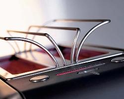 Toaster integrierter brötchenaufsatz