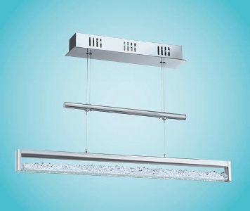 eglo led h ngeleuchte modell cardito aus alu und stahl in chrom glas kristall 1 x. Black Bedroom Furniture Sets. Home Design Ideas