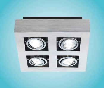 EGLO Wand-Deckenleuchte LED Modell LOKE 1, 4-flammig, Alu ...