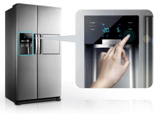 Side By Side Kühlschrank Mit Wassertank Und Eiswürfel : Samsung rs7578thcsp ef side by side a 352 kwh jahr 353 l