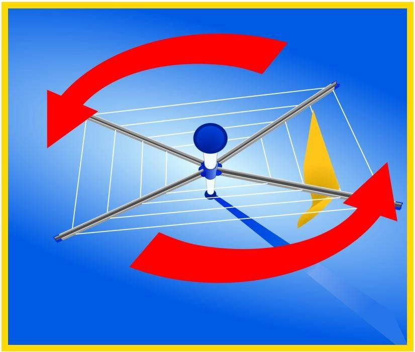 Wäscheständer Decke: Leifheit 84000 Wäschespinne Linomotion (für Drinnen Und