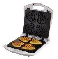 lentz waffle king 4 waffeleisen f r 4 herzwaffeln waffel am stiel. Black Bedroom Furniture Sets. Home Design Ideas